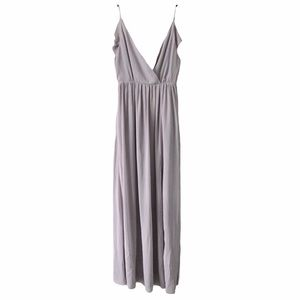 Tobi Lilac Open Flutter Back Spaghetti Strap Dress